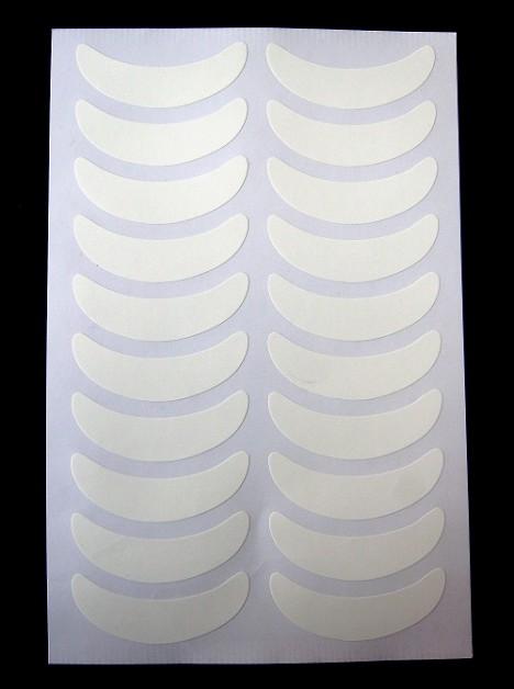 Фиксаторы виниловые для нижних ресниц (белый лист)
