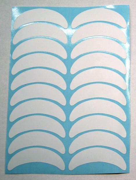 Фиксаторы виниловые для нижних ресниц (голубой лист)